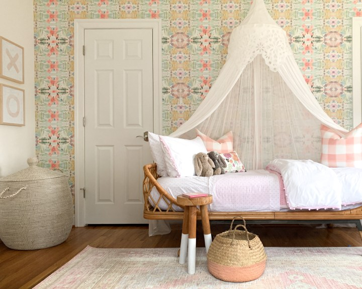 Eclectic Pink Girls Room Mini Reveal