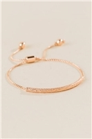 Tinley Sandblast Self Pull Bracelet In Rose Gold
