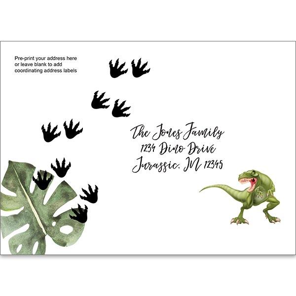 Dinosaur Pre-printed envelope