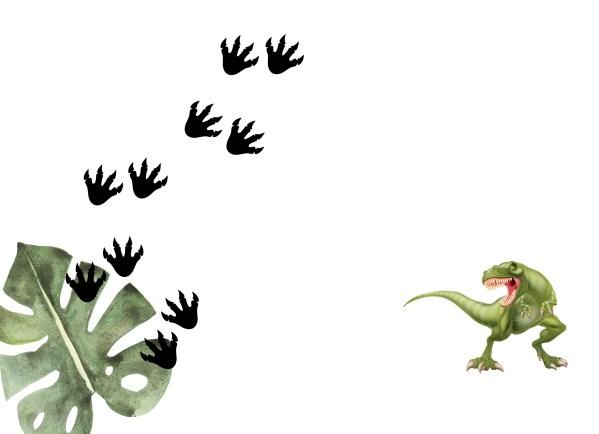dinosaur printed envelope