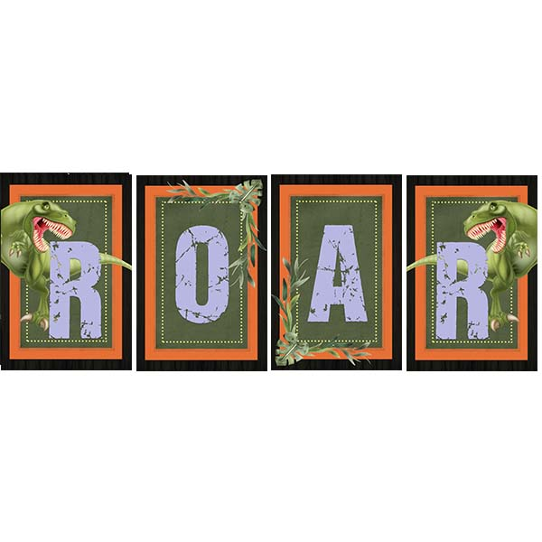 Dinosaur Printable Roar Sign