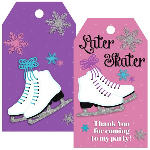 ice skate gift tag