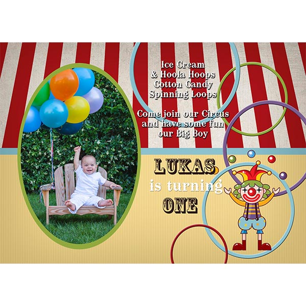 big top vintage circus invitation