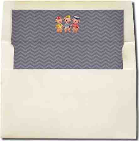 three little pigs envelope liner