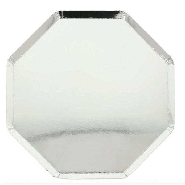 silver foil plate
