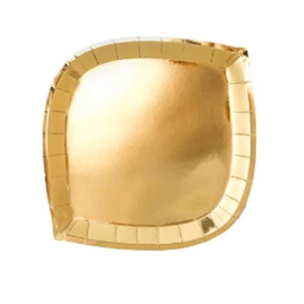gold die cut paper plate
