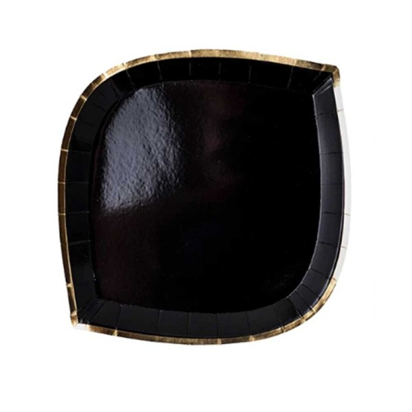 black die cut plates with gold foil