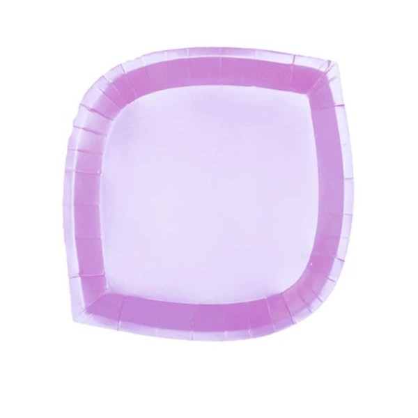 pink iridescent paper plate
