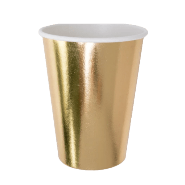 Gold paper cup tumbler