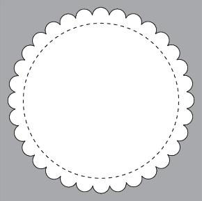 B1 Scalloped Circle
