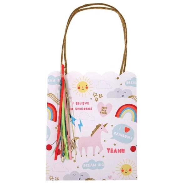 unicorn and rainbow party bag