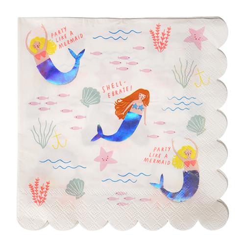 meri meri mermaid napkin
