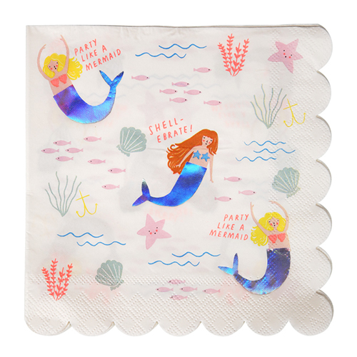 meri meri mermaid napkin