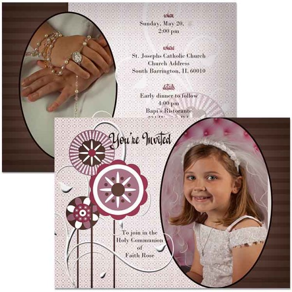 communion photo invitation
