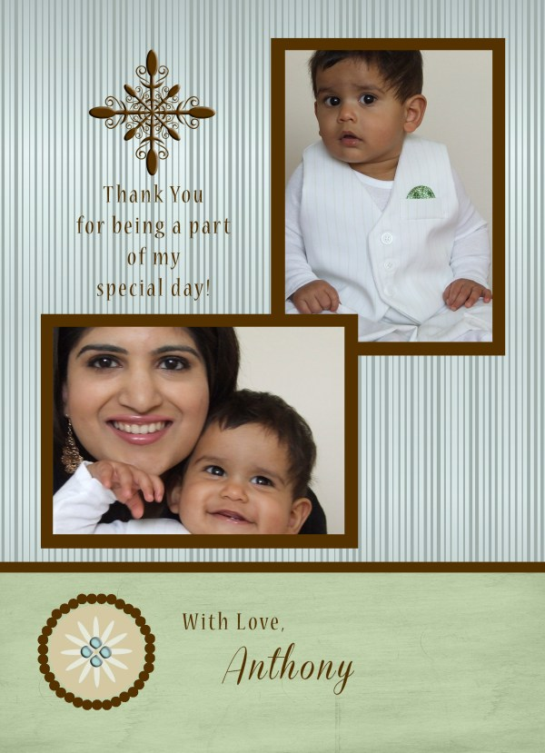 baptism thank you card