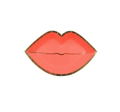 meri meri pink lips plate