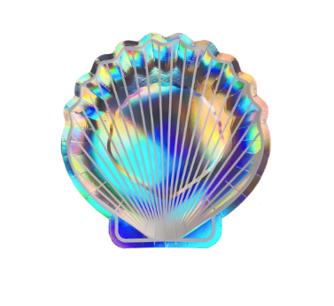 iridescent shell plate