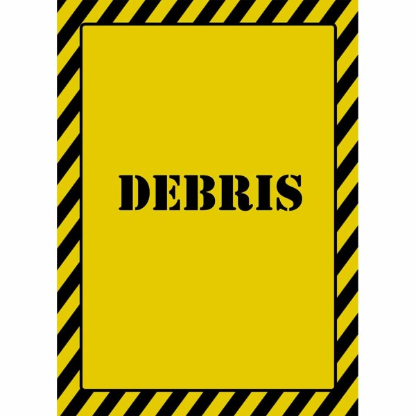 construction debris sign