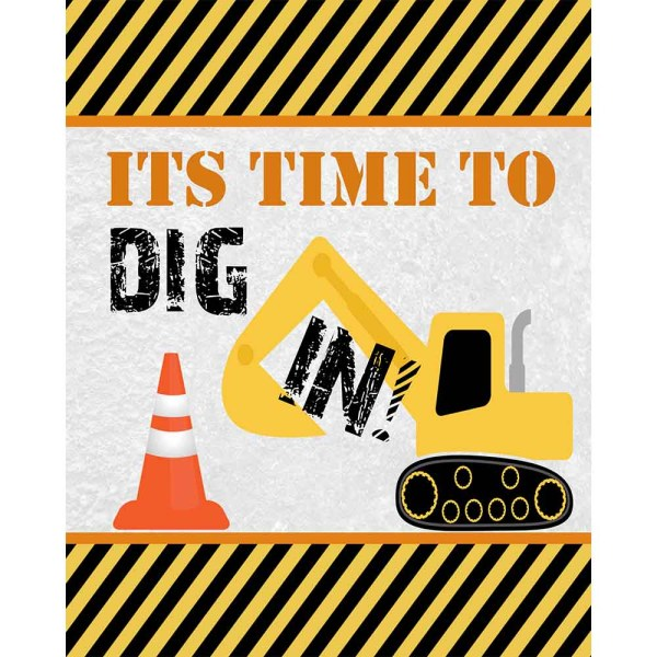 construction dig in sign