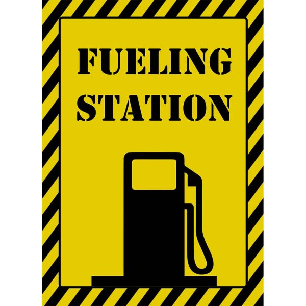 fueling station sign