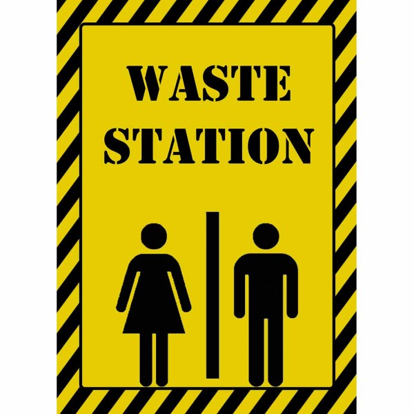 printable 5x7 waste station sign