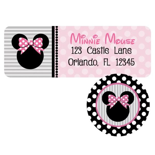 minnie twodles address label