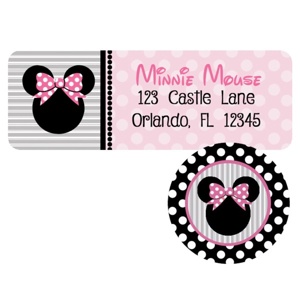 minnie twodles address label