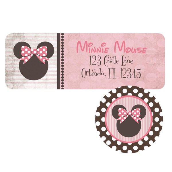 vintage minnie address label