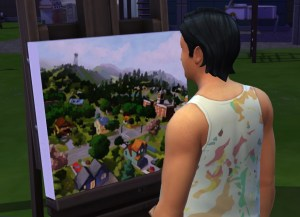 Slaps paints Sunset Valley