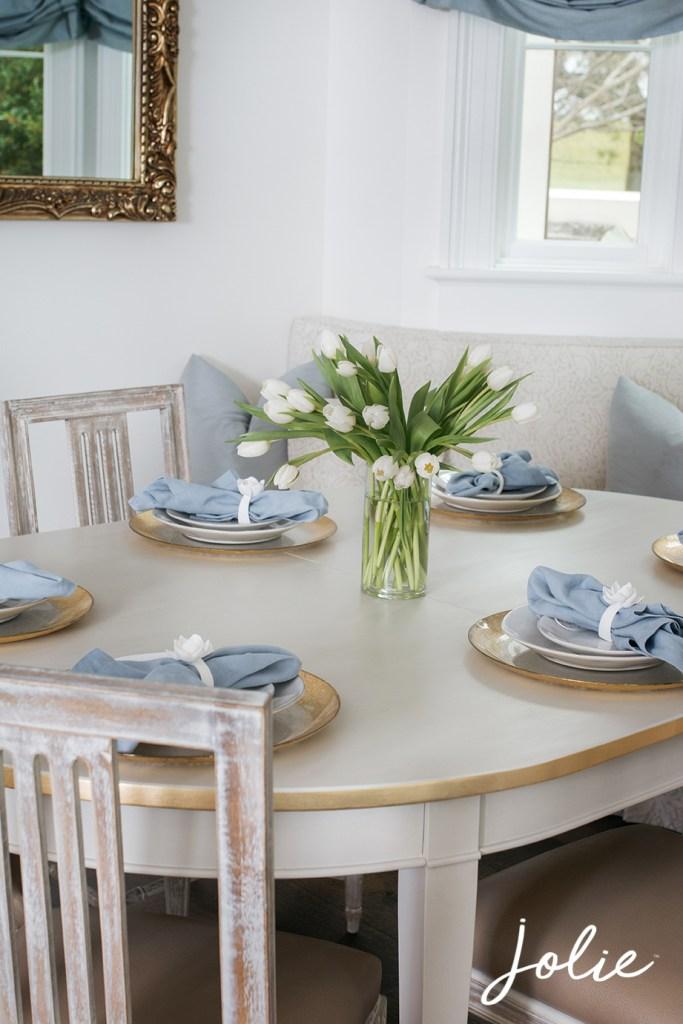 swedish grey kitchen table redo