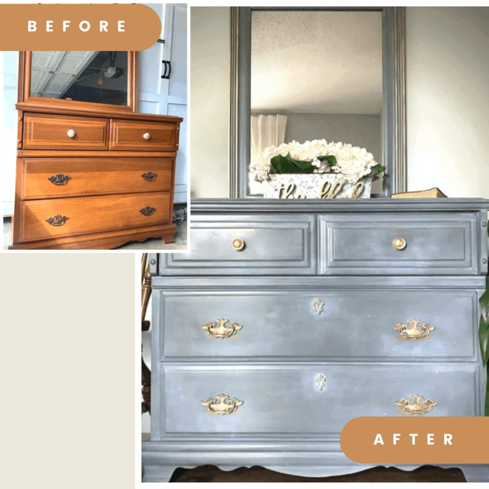dresser painted with legacy jolie paint