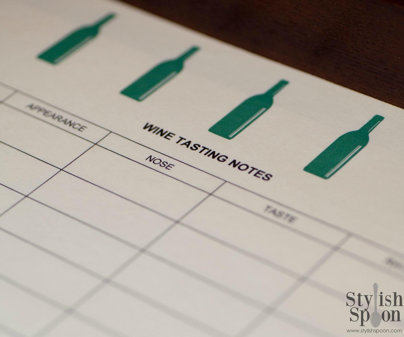 Diy Wine Tasting Notes Template Free Printable