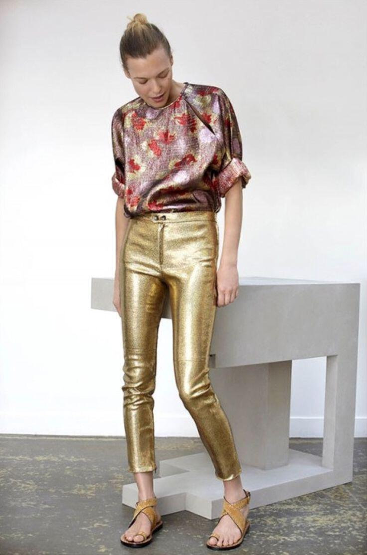 6 Ways To Wear Gold Sequin Pants At Valentines Day Page
