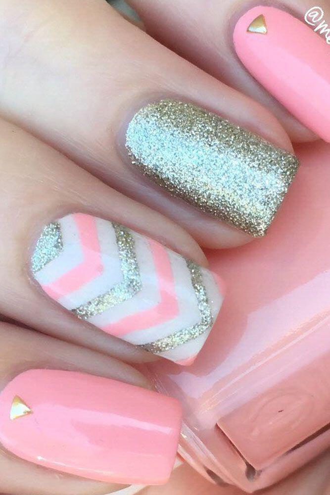 15 Beautiful Chevron Nail Designs To Try This Summer Stylishwomenoutfits