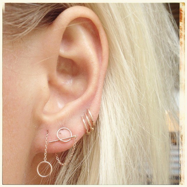 20+ Beautiful Ear Piercing Ideas