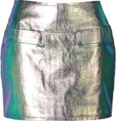 Metallic Leather Mini-Skirt By Marc Jacobs £255