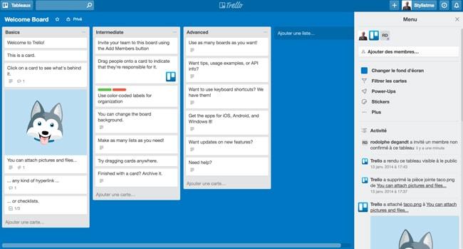 outils collaboratifs gratuits Trello