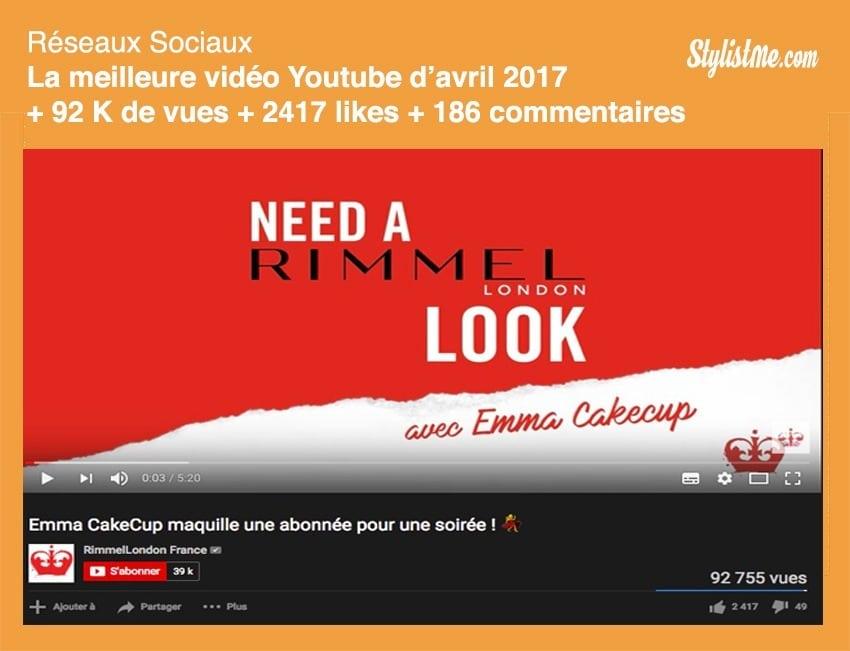 meilleure vidéo youtube France 2017