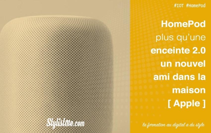 Apple HomePod enceinte connectée et assistant personnel – avis test