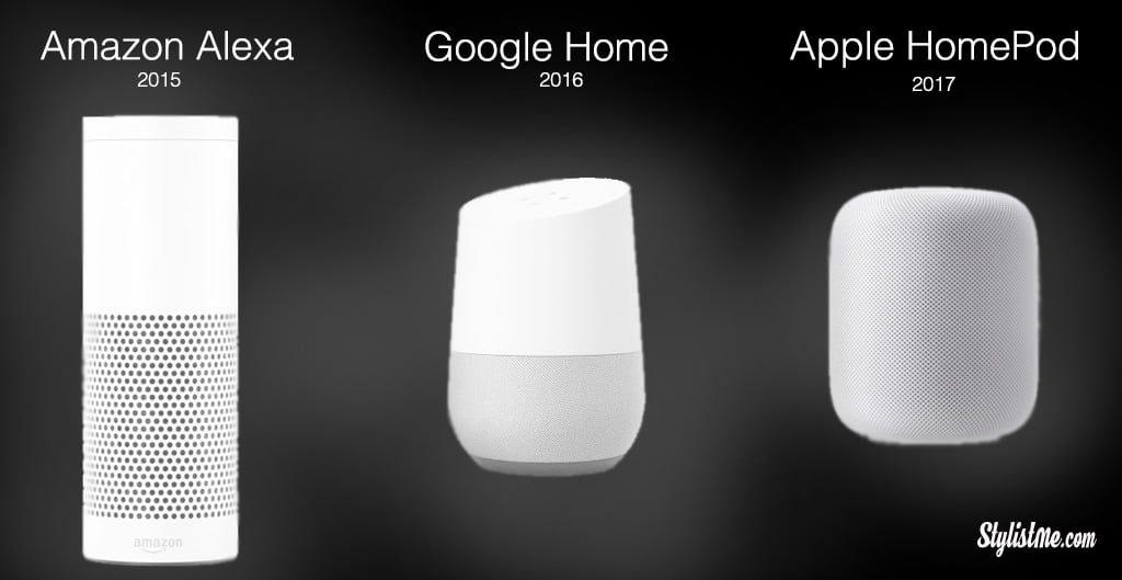Apple Homepod Google Home Amazon Echo