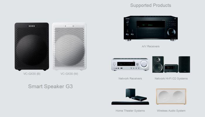 Google Assistant 6 nouvelles enceintes compatibles Google home smart speaker G3 Onkyo