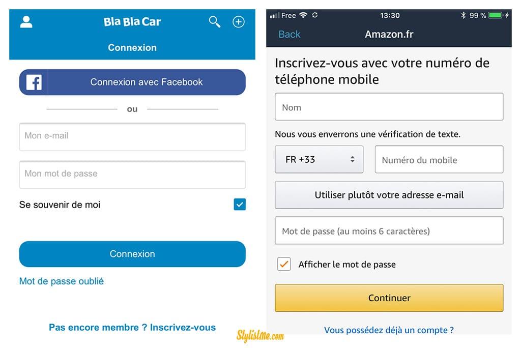 taux de conversion abandon panier mobile inscription amazon