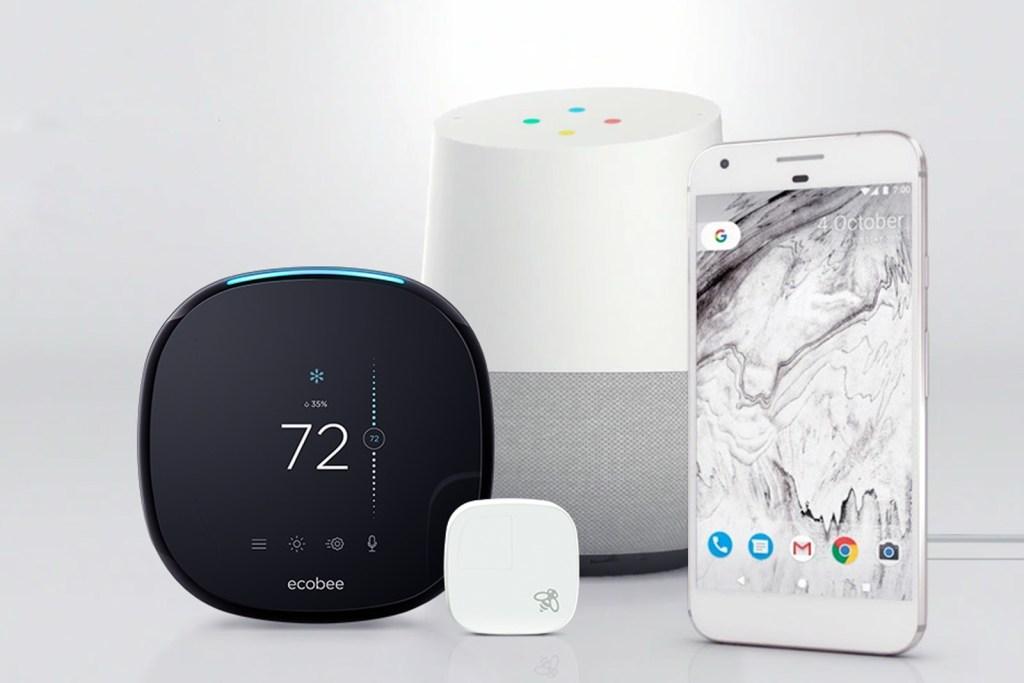 Ecobbe thermostat google home IFTT Alexa