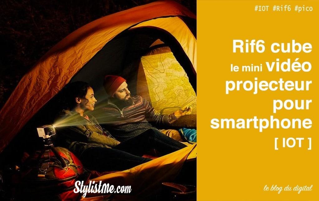 Rif6 Cube Test avis du mini vidéo projecteur de 136 grammes !