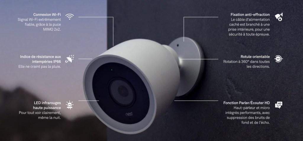 Nest cam IQ caméra sécurité extérieure google home