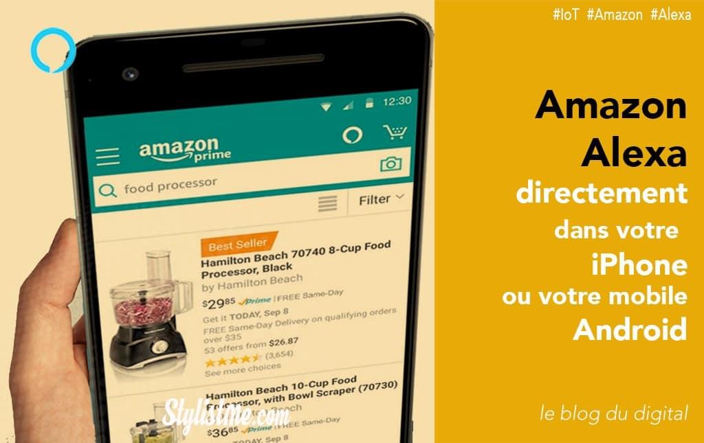 Comment utiliser Amazon Alexa sur son iPhone ou mobile Android