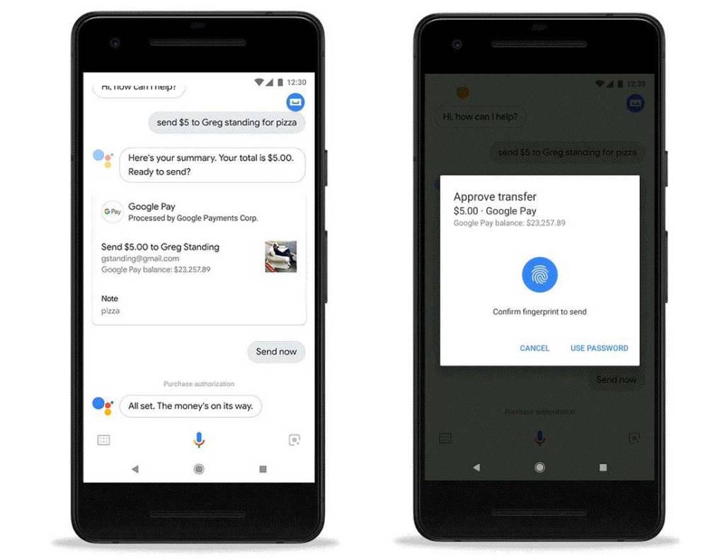 Payer ou faire un virement avec votre Google Home