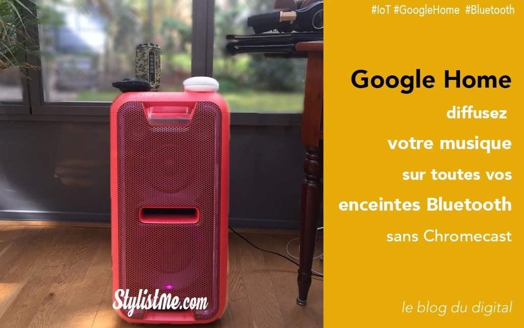 Comment connecter une enceinte bluetooth à Google Home sans Chromecast