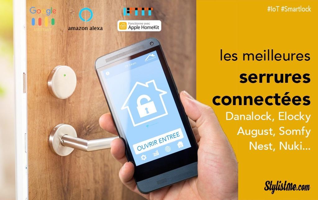 Installation Facile Technologie Bluetooth Cr/éez des Acc/ès Permanents et Temporaires Serrure Connect/ée SOMFY App pour iOS//Android Ouvrez et Fermez la Porte dEntr/ée avec Votre Smartphone