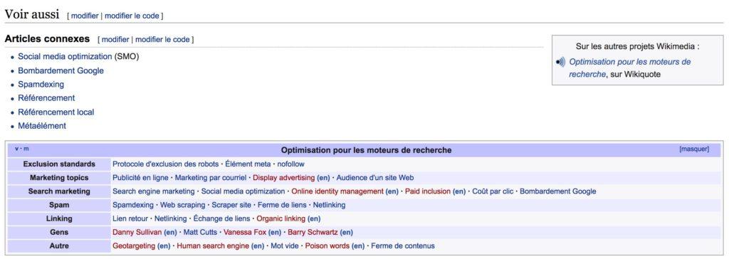 13 techniques SEO 2018 références wikipédia